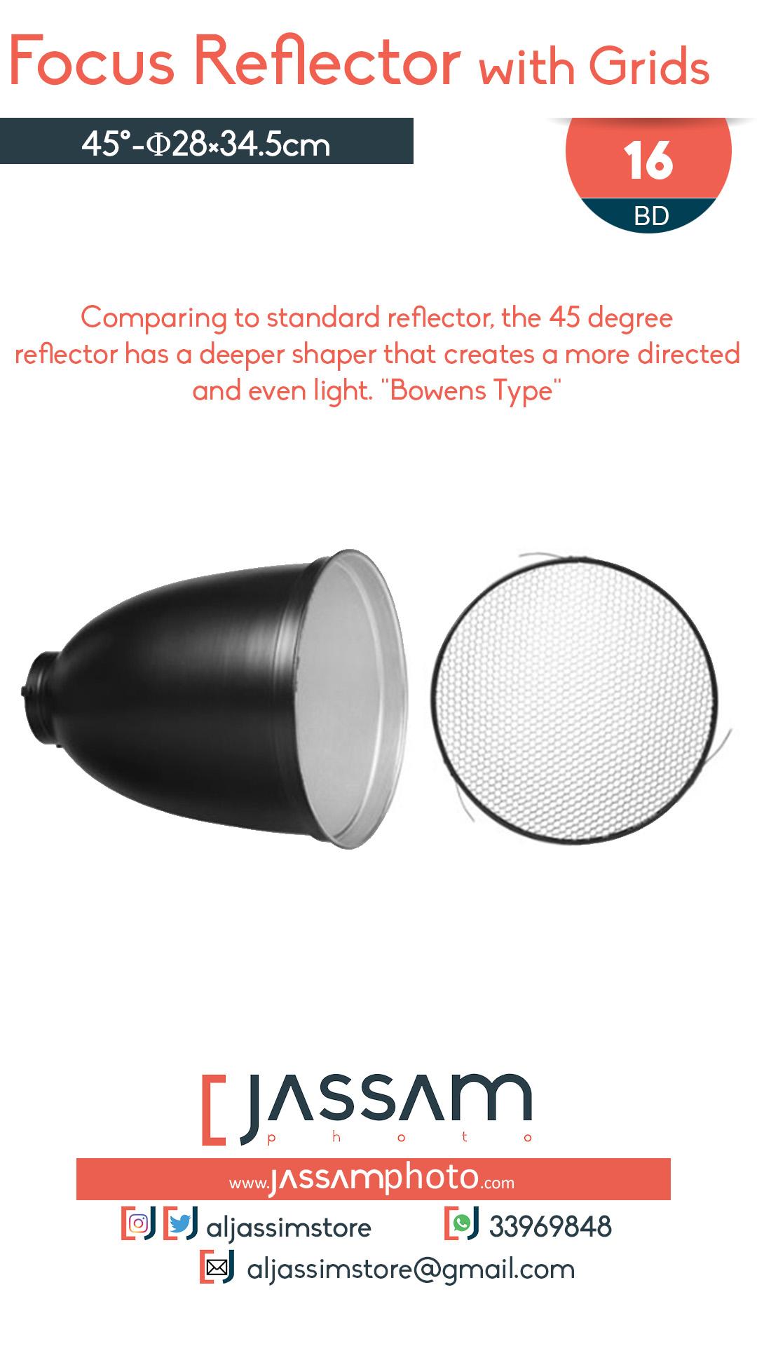 45° Reflector
