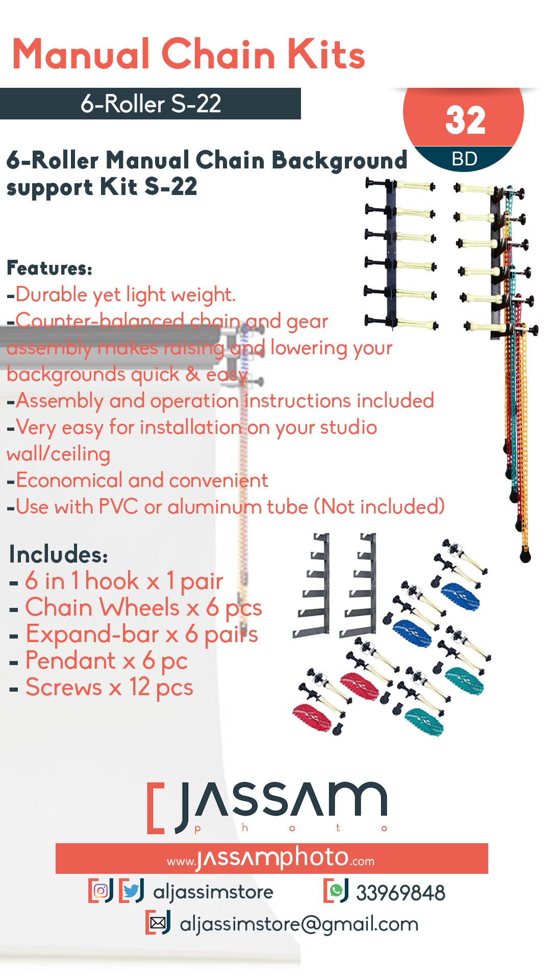 6-Roller Manual Chain Kit S-22