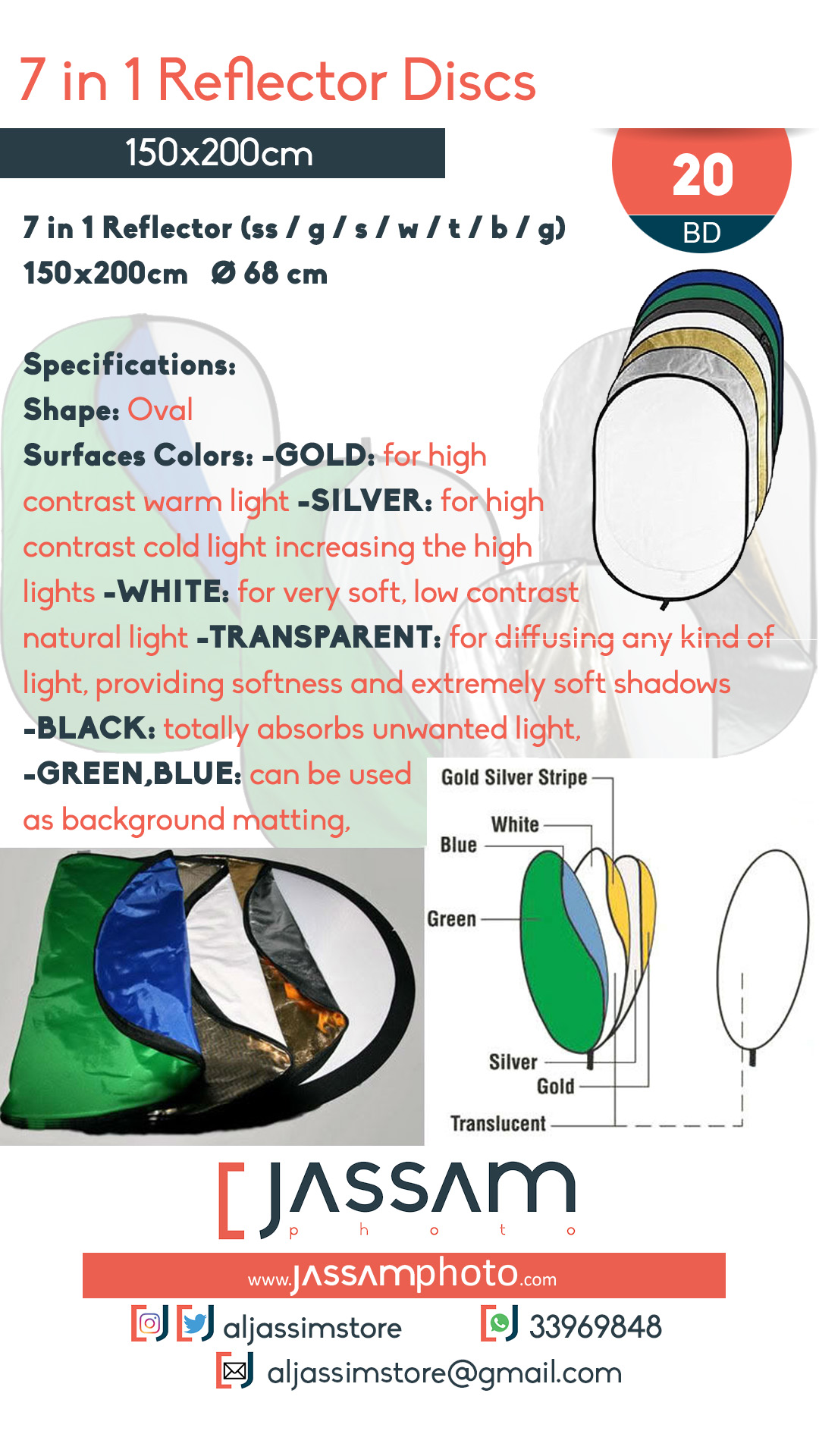 7in1 Reflector