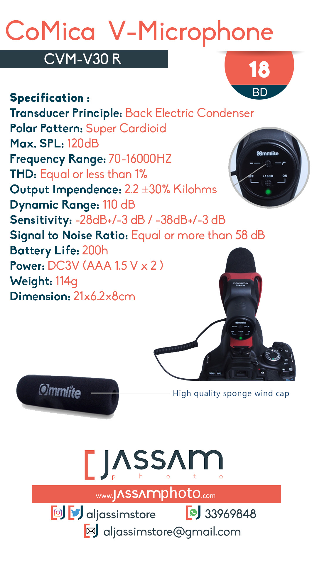 Microphone CVM-V30R