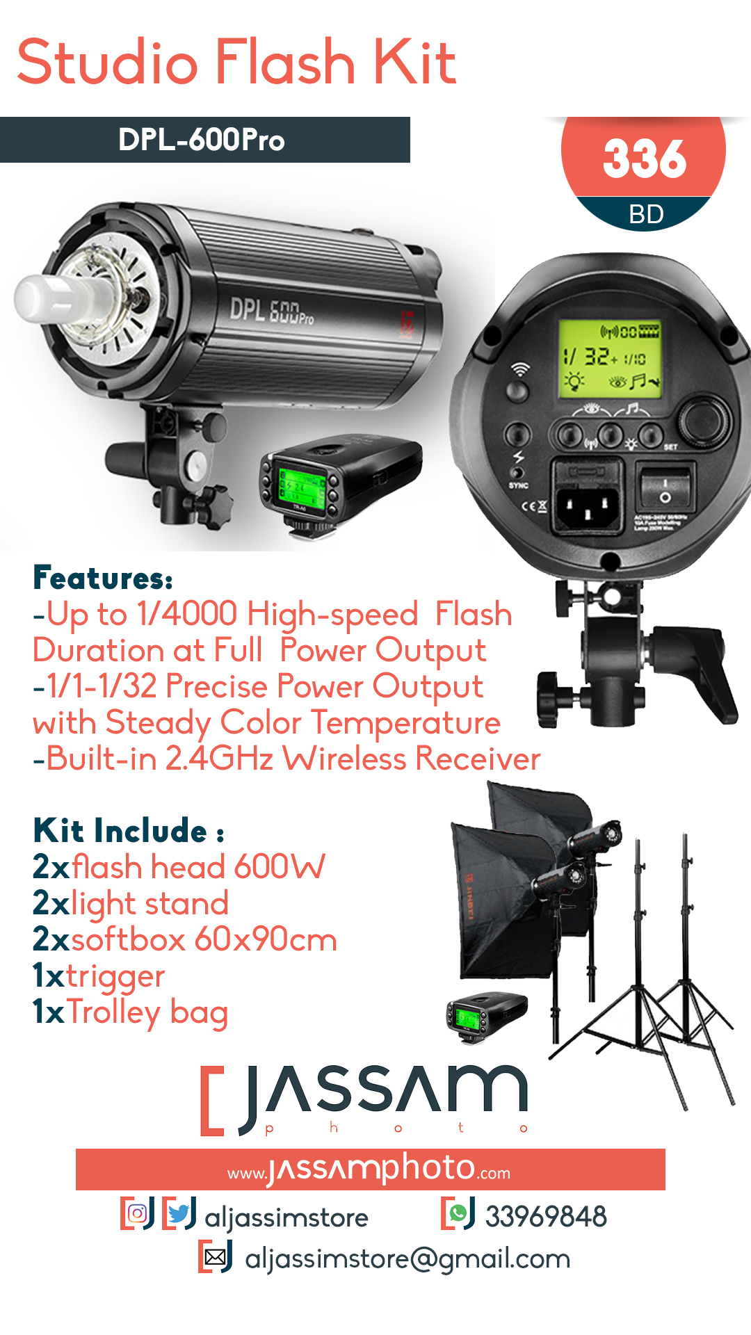 Studio Flash Kit DPL-600 Pro