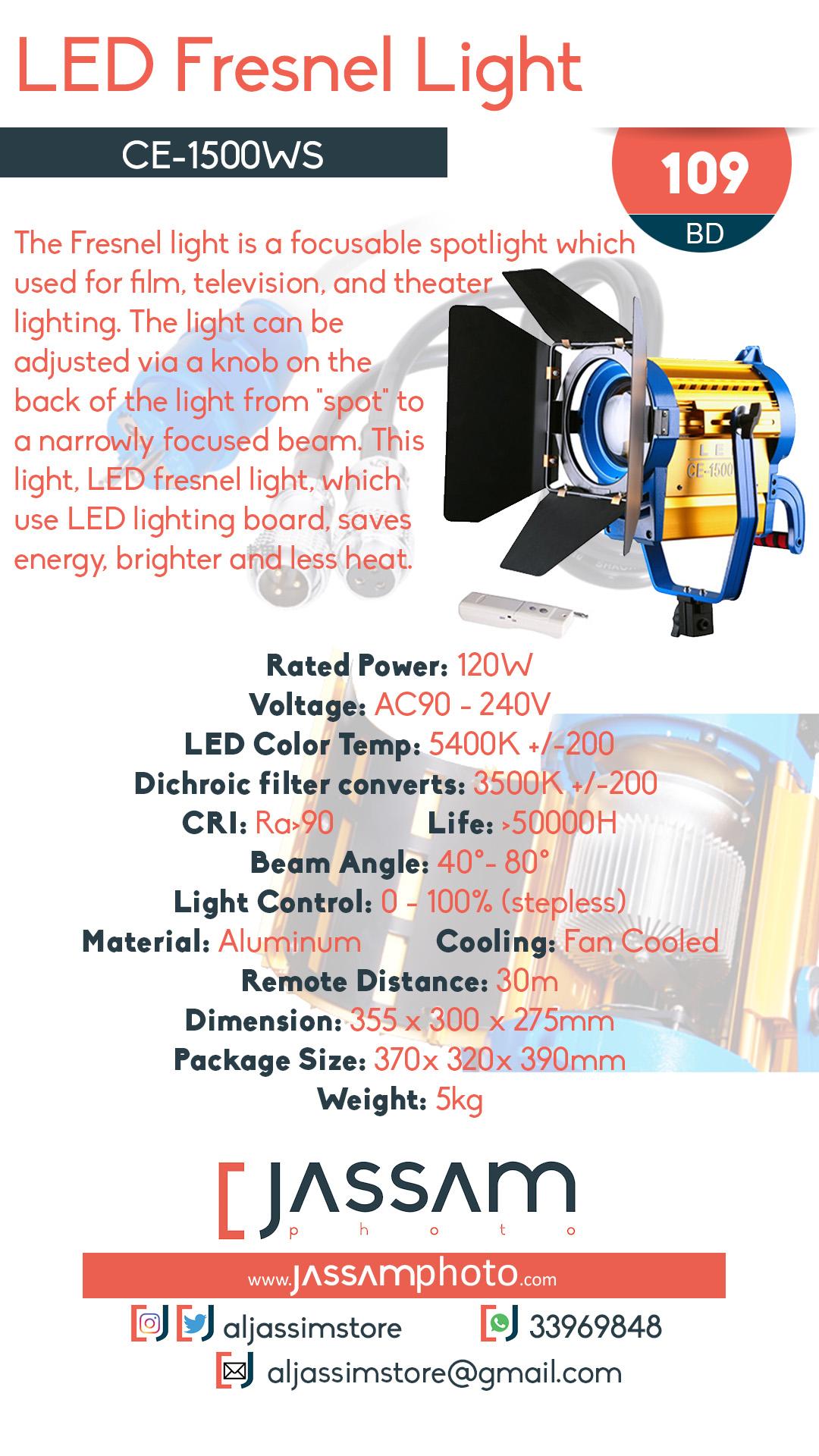 LED Fresnel CE-1500WS