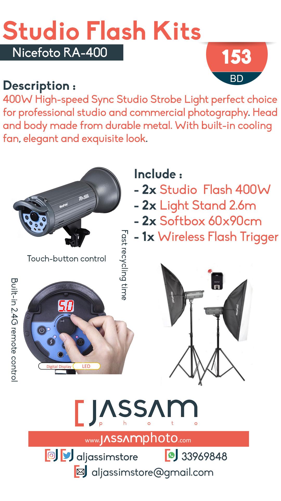 Studio Flash Kit RA-400