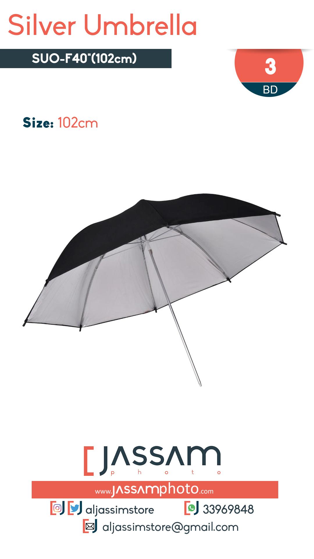 Silver Umbrella 102cm