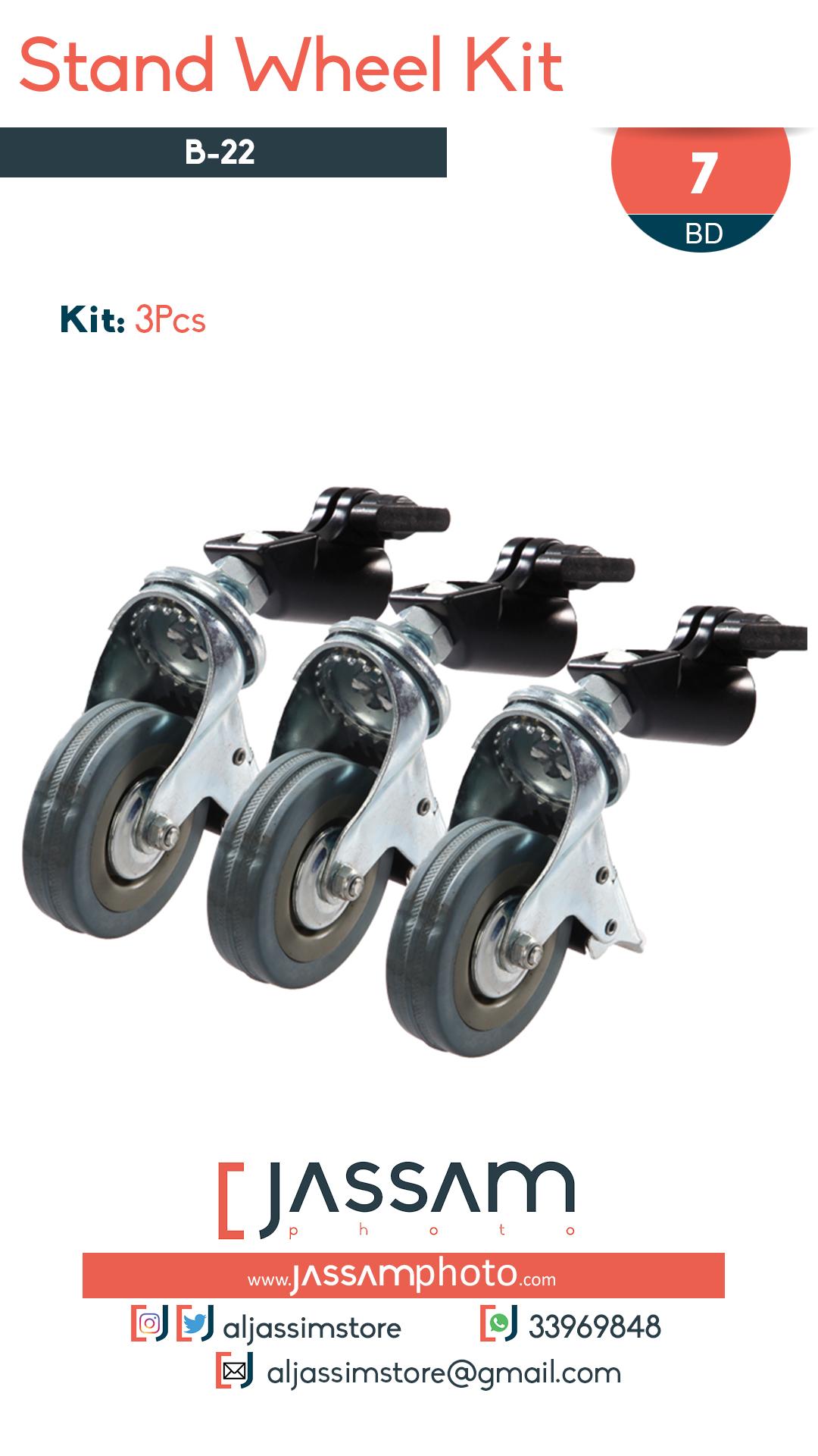 Stand Wheel Kit B-22