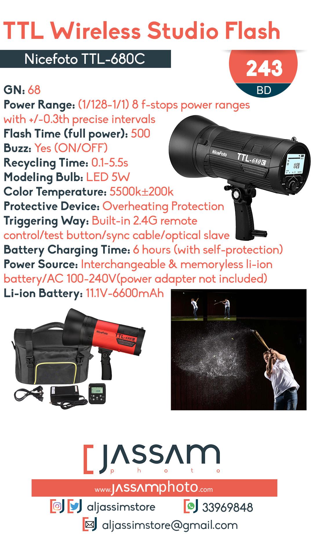 Studio Flash TTL-680C