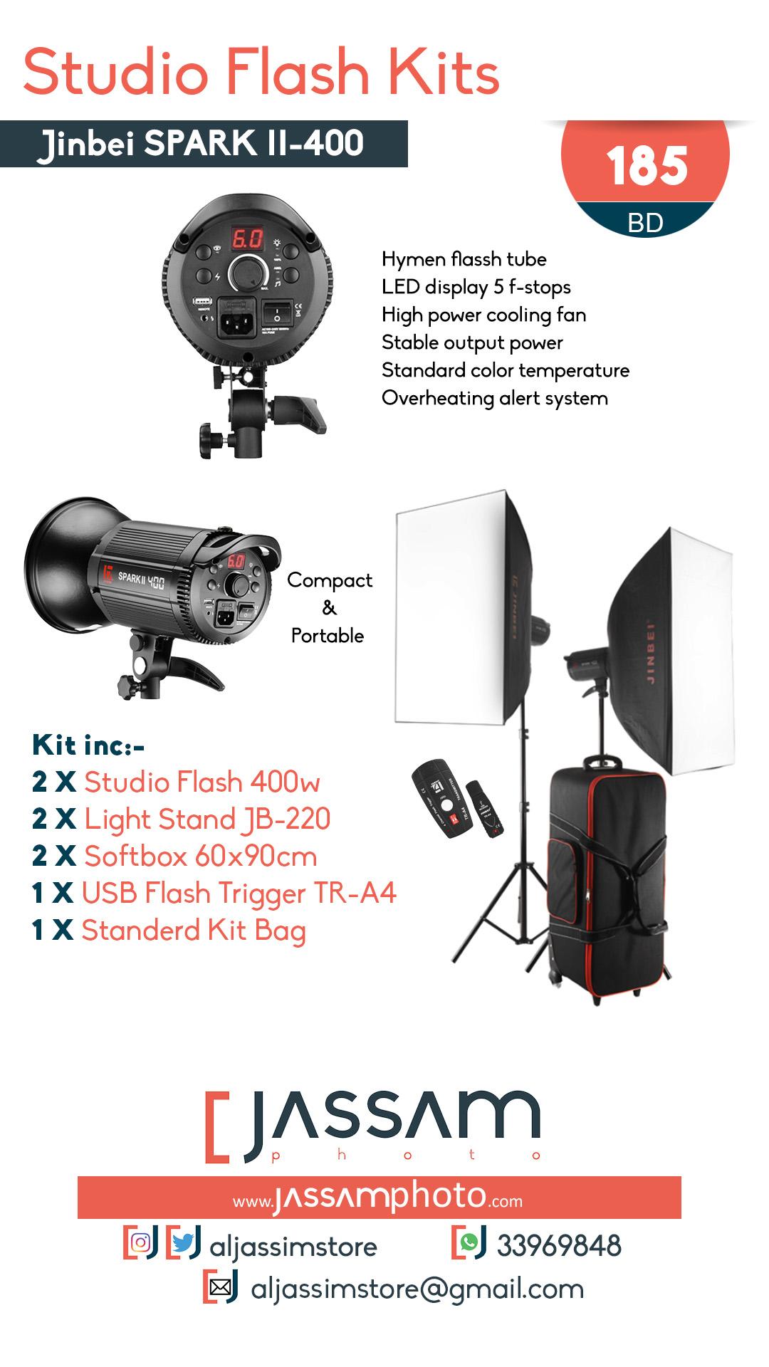 Studio Flash Kit SparkII-400